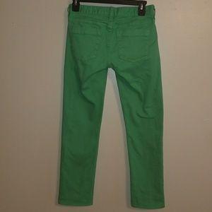 J Crew Matchstick Jeans Green Skinny